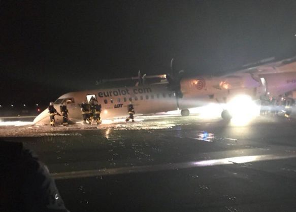 A PASSANGER AIRCRAFT CRASHED WHILE LANDING AT THE WARSAW AIRPORT
