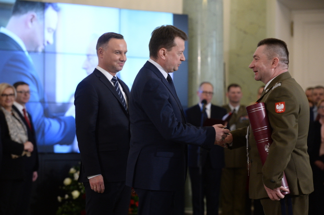 14 OFFICERS WERE ELEVATED T THE GENERAL RANK BY THE PRESIDENT OF POLAND