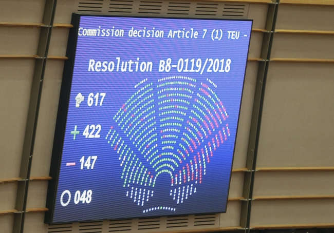 THE EUROPEAN PARLIAMENT HAS SUPPORTED THE EUROPEAN COMMISSION IN THE PROCEDURE CONCERNING POLAND