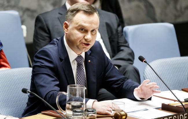 Анджей Дуда: Польща підтримує ідею миротворців ООН в Україні