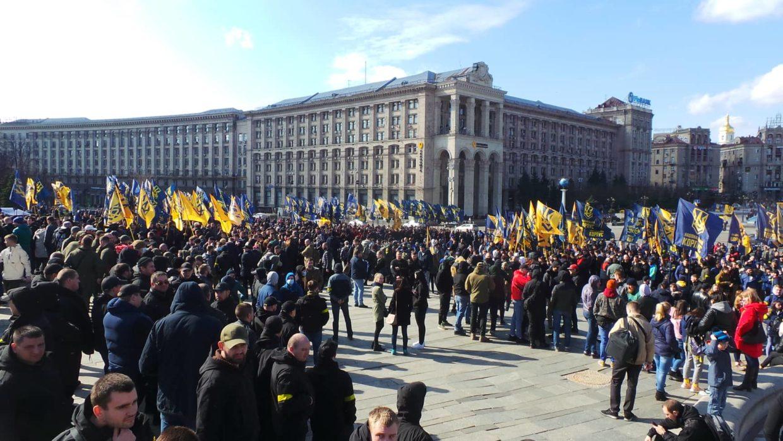 Вживую. Акция Национального корпуса в центре Киева