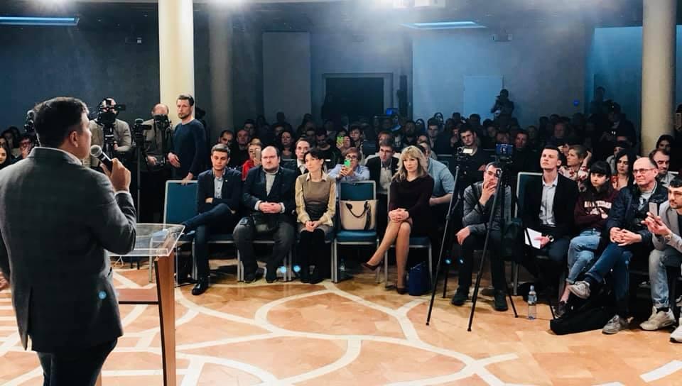 Саакашвілі у Варшаві говорив про пряму демократію, курс України на ЄС та зміну політичного класу