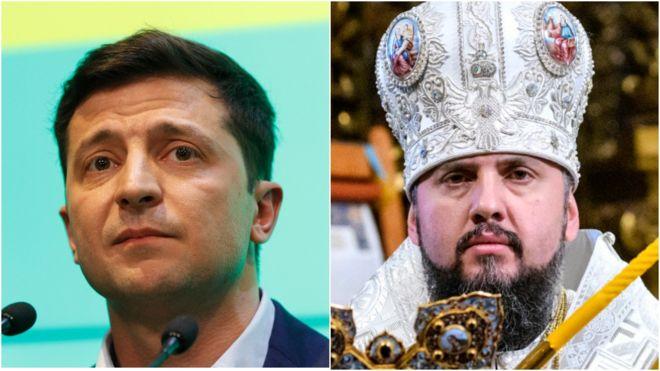 Зеленський зняв звернення релігійних діячів до жителів Донбасу і Криму. Епіфаній відмовився (відео)
