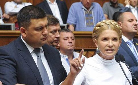 Батл премьеров: спор Гройсмана и Тимошенко о коррупции и новых лицах Парламента (видео)