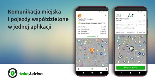 У Вроцлаві запустили додаток take & drive, що з'єднує весь транспорт міста