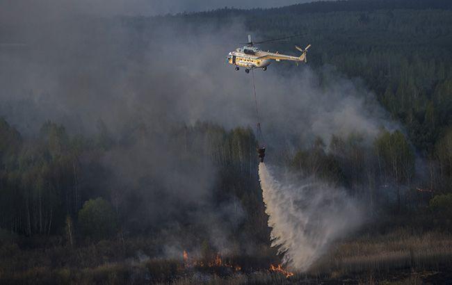 В Чернобыльской зоне втрое выросла площадь пожара