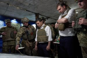 President of Ukraine visited a frontline in the area of the Joint Forces Operation