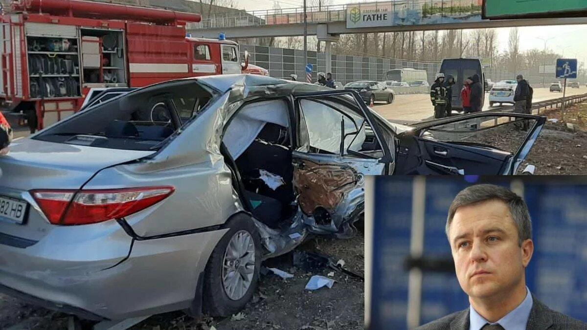 Под Киевом в ДТП попал уполномоченный Зеленского Николай Кулеба: видео момента аварии