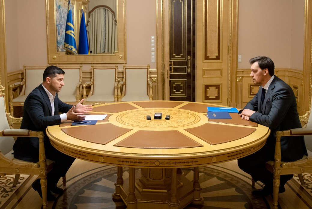 President of Ukraine set a number of urgent tasks for Oleksiy Honcharuk's government
