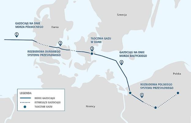 У Польщі та Данії готують ділянки для газогону Baltic Pipe