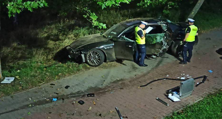 Українець розбив Maserati у Польщі (фото)