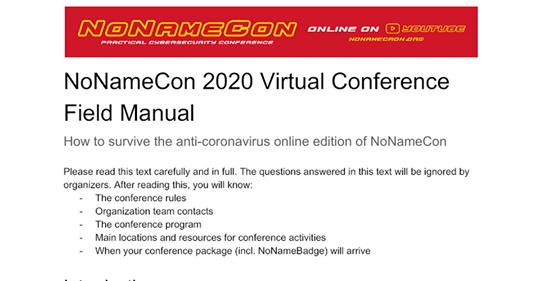 Підказка для тих, хто досі не розібрався де завтра дивитися NoNameCon