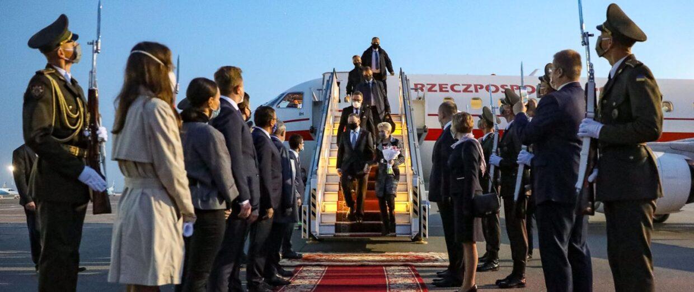 Президентська Пара розпочала візит до України