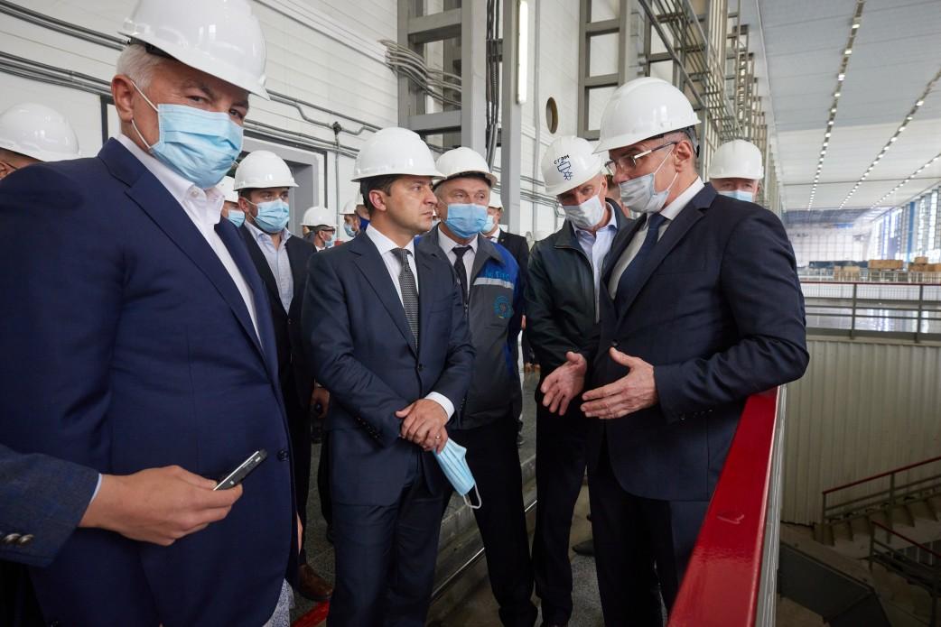 Президент проінспектував будівництво четвертого гідроагрегату на Дністровській ГАЕС
