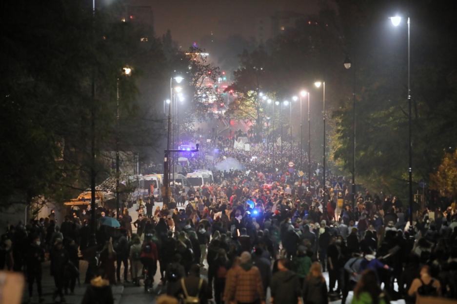 В ніч на суботу відбулися протести через рішення Конституційного суду про аборти