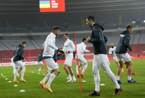 Ukraine held a training at the stadium, where they will meet Poland on Wednesday