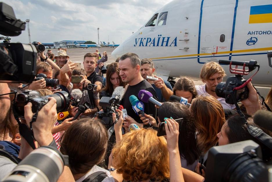Олег Сенцов став лауреатом цьогорічної Нагороди імені Вінценза
