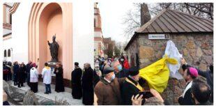W Zaporożu na Ukrainie odsłonięto pomnik św. Jana Pawła II i nadano jego imię jednej z ulic