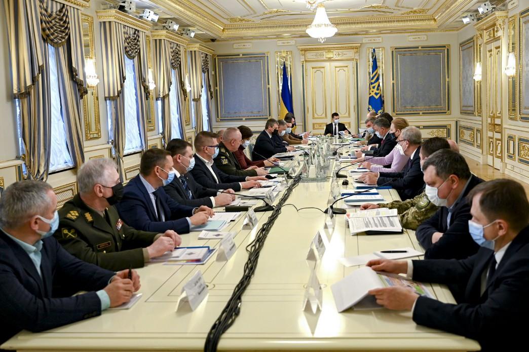 Завершилося засідання Ради національної безпеки і оборони під головуванням Президента