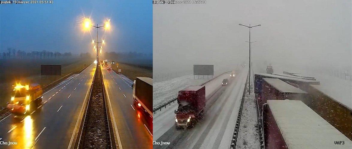 У Польщі на автостраді А4 ДТП з 9 вантажівками [+ВІДЕО]