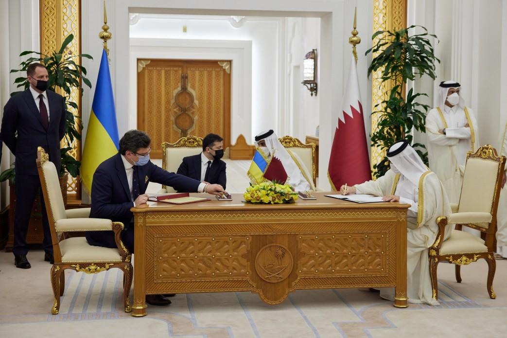 У межах офіційного візиту Володимира Зеленського до Держави Катар підписано низку документів