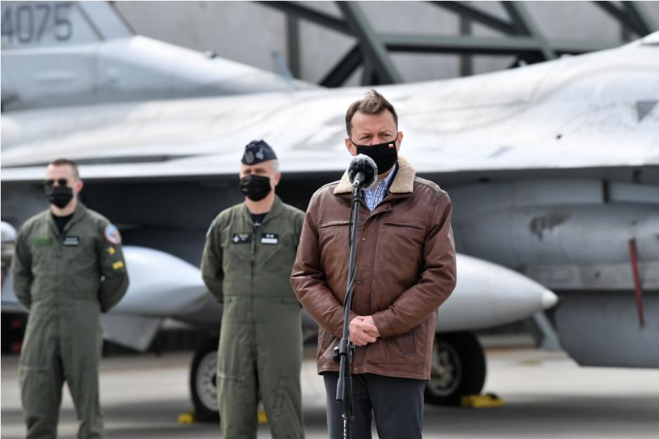 Міністр Маріуш Блащак зустрівся з пілотами винищувачів F-35