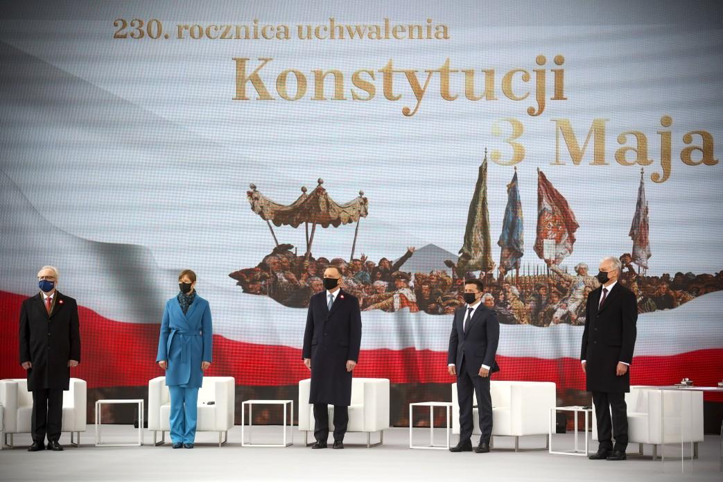 Президент взяв участь в урочистостях з нагоди 230-ї річниці Конституції Польщі 3 травня