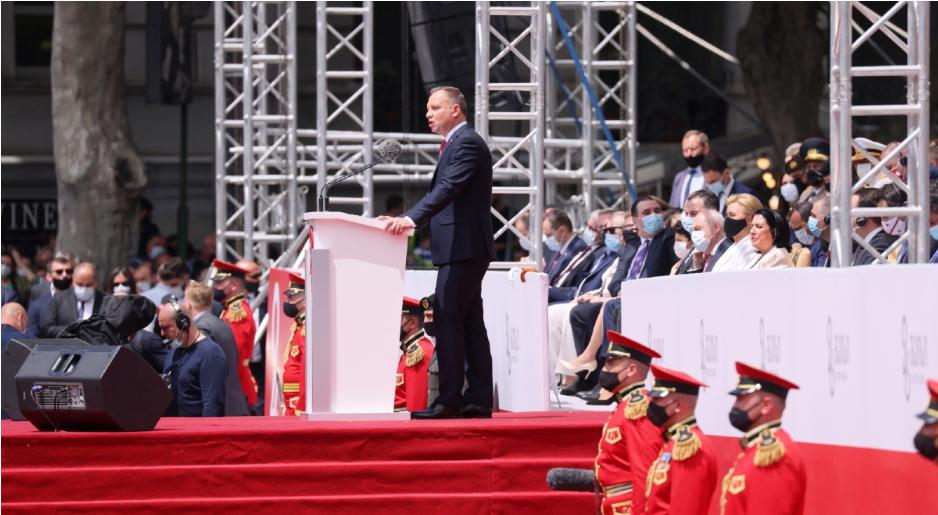 Президент Польщі бере участь у святі незалежності Грузії