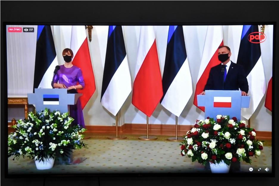 Керсті Кальюлайд та Анджей Дуда обговорили, серед іншого, підтримку України у межах проєктів ініціативи Трьох морів