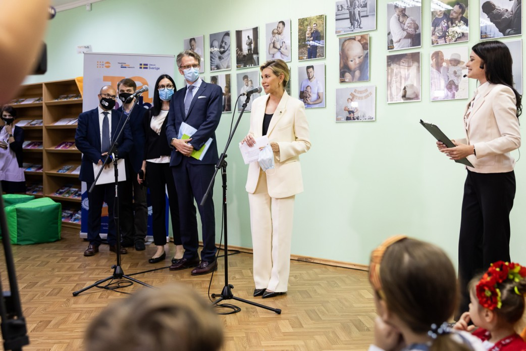"""The First Lady together with the Ambassador of Sweden to Ukraine opened a club for responsible dads """"TATO-Hub Poltava"""" and launched an audio guide in Swedish at the Museum of the Battle of Poltava"""