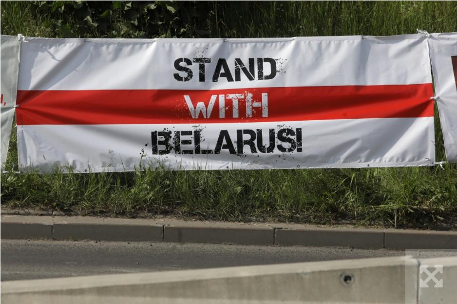 Білоруси протестують при польсько-білоруському кордоні