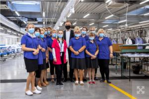 Анджей Дуда позитивно оцінив зміни у фірмі з виробництва одягу «Polanex»